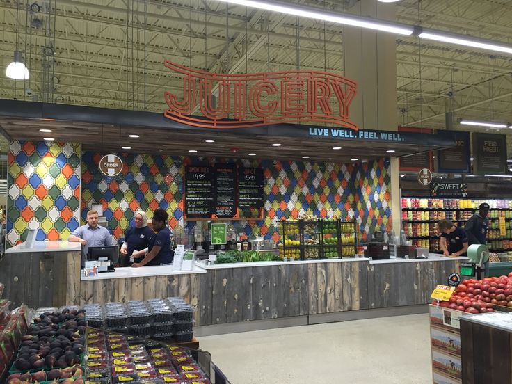 An install shot of a juice counter for one of our grocery clients. Whole Foods Chicago IL ‪#‎update‬ ornamenta.com/update.php