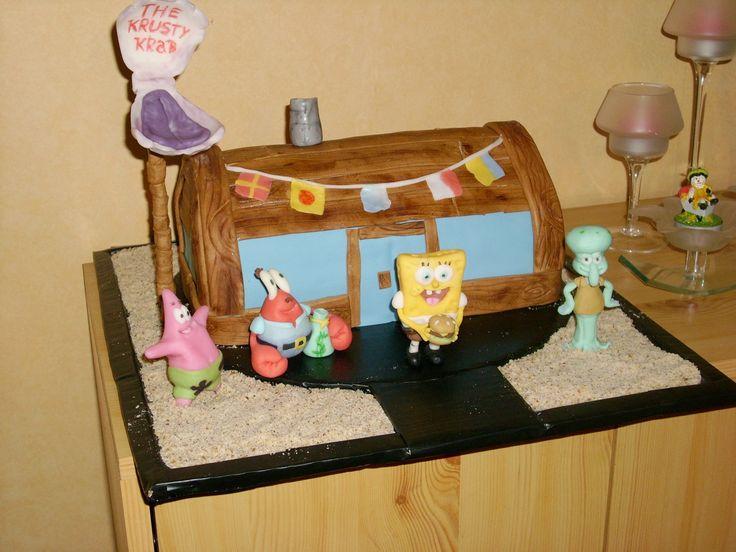 Spongebob cake, the krusty krab cake