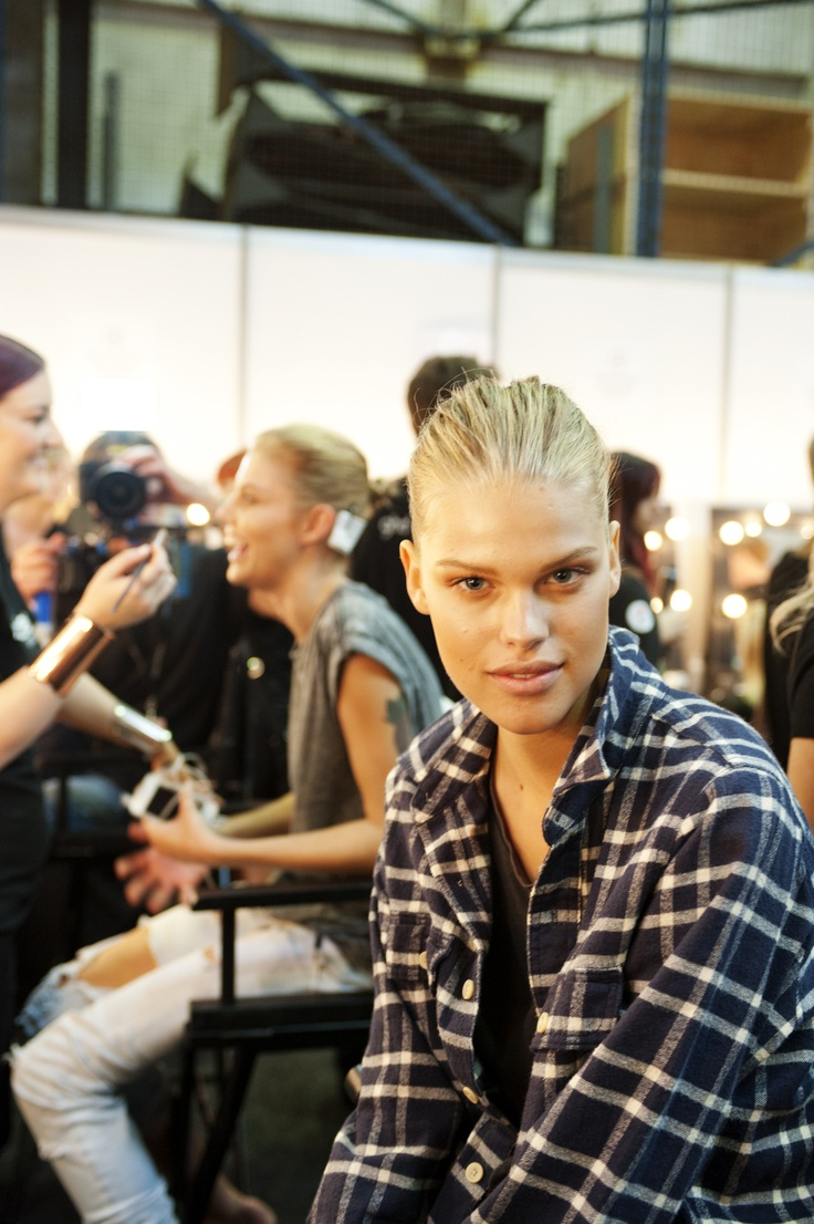 Backstage at Alex Perry MBFWA 2013 - photography by Carine Thevenau.