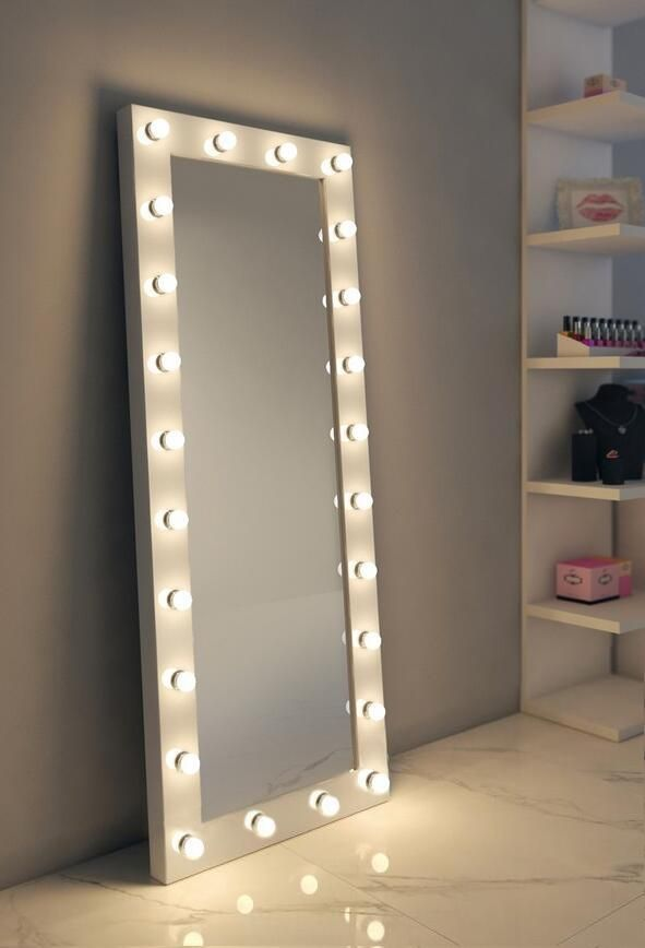 Dressing Hollywood Mirror White 70 X 28 In Big Mirror In