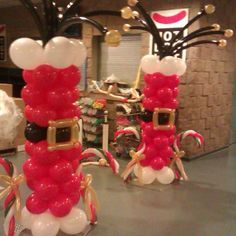 Image result for floating sleigh and reindeer arch decor