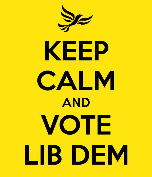 'KEEP CALM AND VOTE LIB DEM' Poster