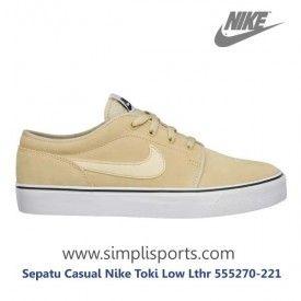 Sepatu Casual Nike Toki Low Lthr 555270-221 ORI