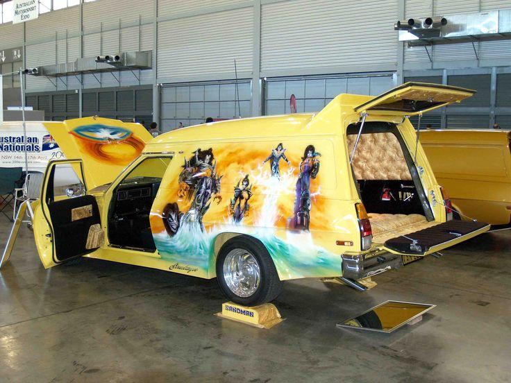 1975 Holden Sandman Van. Kiss inspired murals.