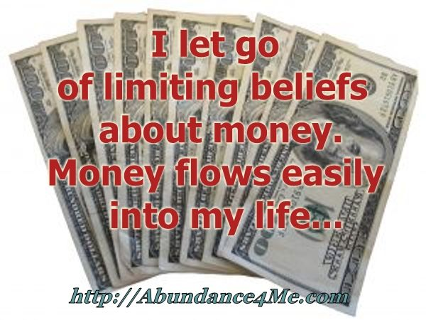 Money flows easily into my life...