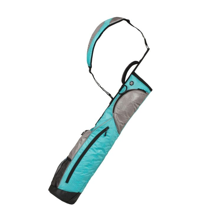 Wellzher 0.9 Sunday V2 Carry Golf Bag Turquoise/Silver (Collapsible)