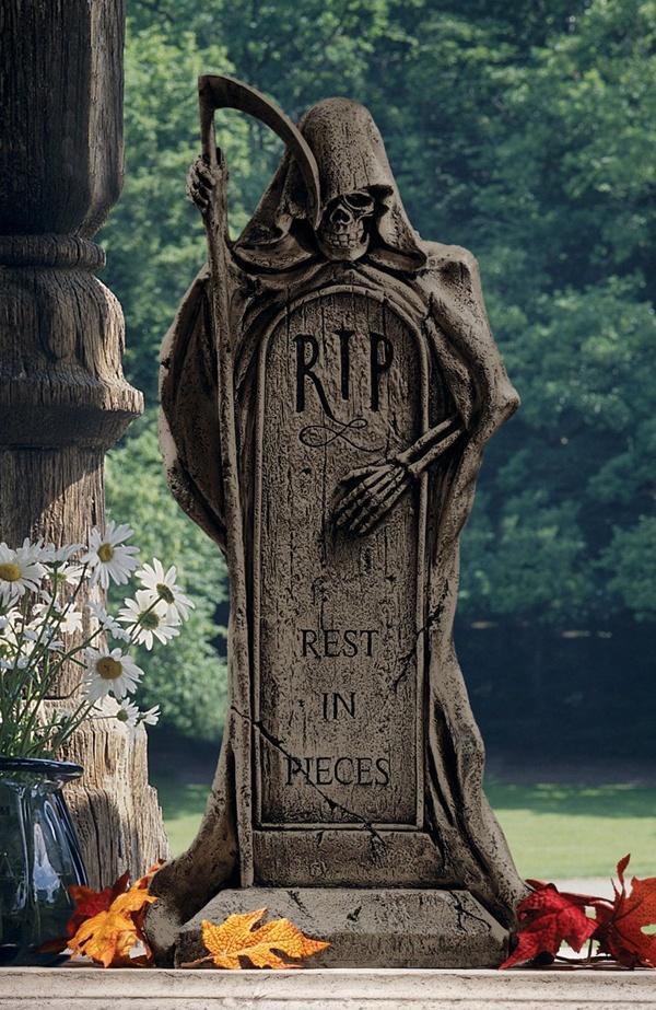 Grim Reaper Tombstone Statue #sculpture #gothic