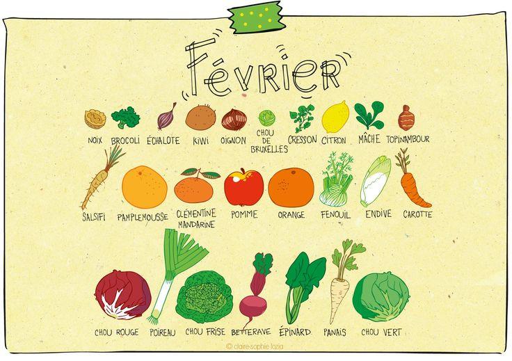Février - Calendrier des fruits et légumes | pissenlit