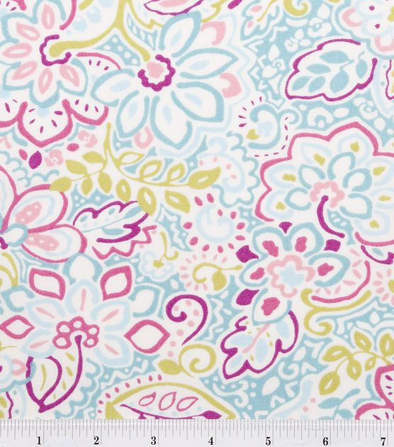 Keepsake Calico Fabric Jq Spiritred Aqua  and yet another idea for a little girls' bedroom in blue