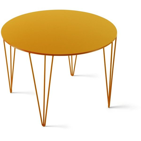 7221   Honey Yellow ($195) ❤ Liked On Polyvore Featuring Home, Furniture,  Tables, Accent Tables, Black, Triangle Coffee Table, Black Round Table, ...