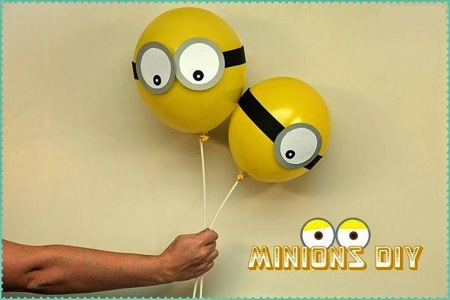 Manualidades para Fiestas - Divertidos globos de minions | Un Mundo de Manualidades
