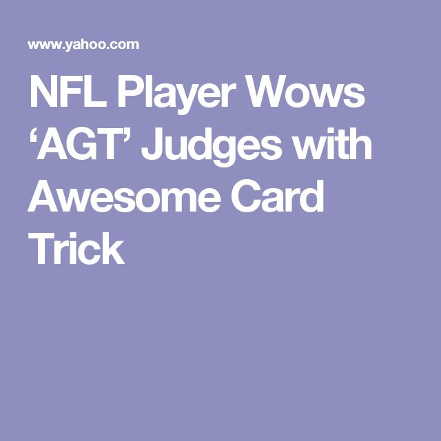 NFL Player Wows 'AGT' Judges with Awesome Card Trick