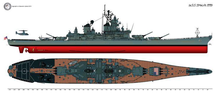 USS Iowa 1990 by Lioness-Nala.deviantart.com on @deviantART