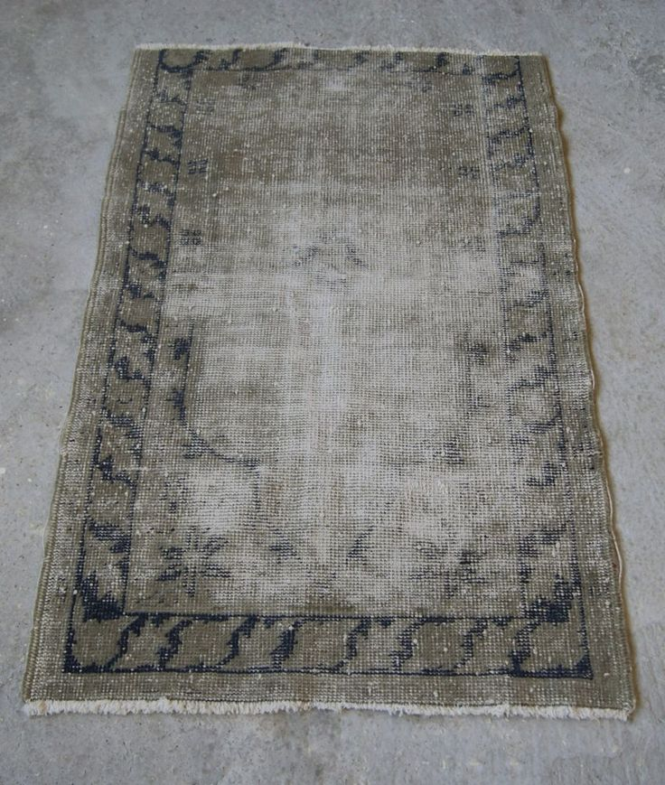 3' x 4' Distressed Oushak Carpet, Oriental Turkish Rug, Faded Carpet #RugToGo