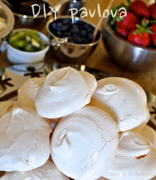 Make your own mini Pavalova Bar!!!! with premade mini meringue nests, cream and assorticement of fruits!