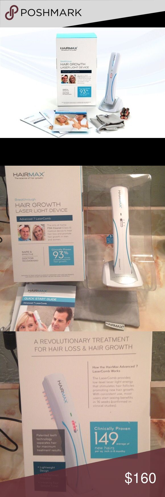 New Hairmax Lazer Hairmax laser comb advanced comb. Excellent condition hairmax Accessories Hair Accessories