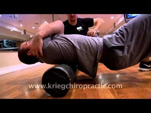 Foam Roller Exercises for Mid and Upper Back Pain - Missoula Chiropractor Krieg Tip - YouTube