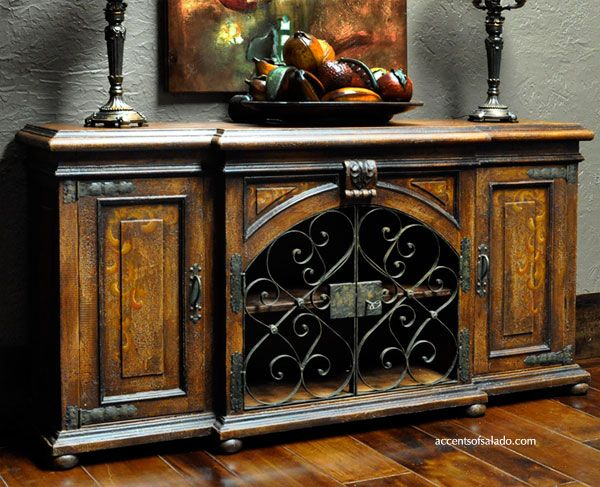 The Barletto buffet/media cabinet is ideal for the homeowner wanting rustic appeal, classic styling and quality high end Mediterranean style... We furnish Tuscan dining rooms nationwide.