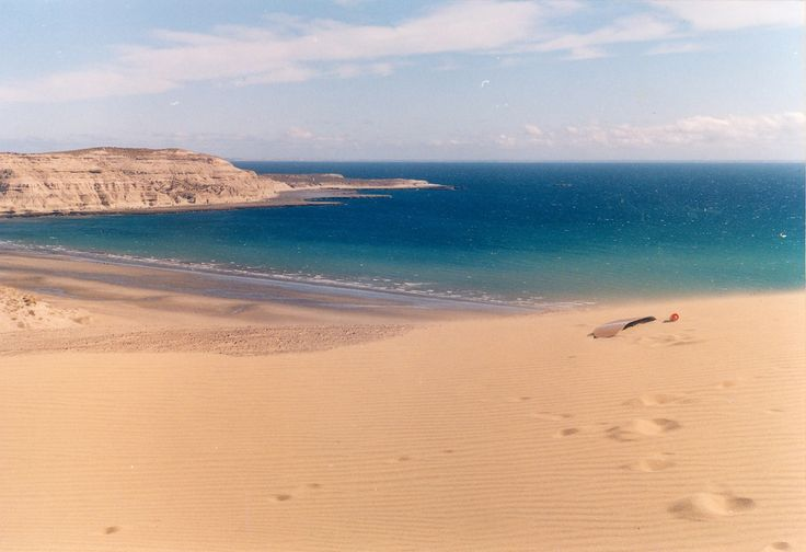 Beaches in Puerto Pirámides, Chubut