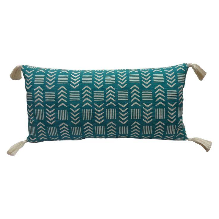 Teal Arrows Lumbar Pillow  Target  Home  Pillows