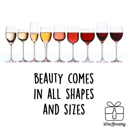 Beauty comes in all shapes and sizes! Yes it does. Personalized wine quotes. Funny wine quotes!