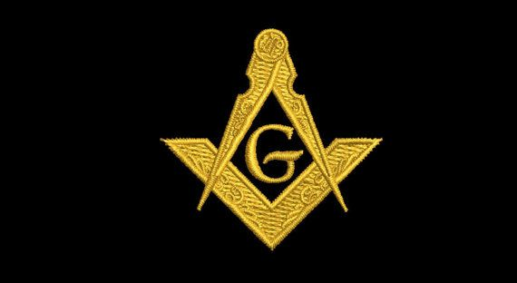 Freemason Masonic Compass & Square Symbol 4 by MountainEmbDesigns