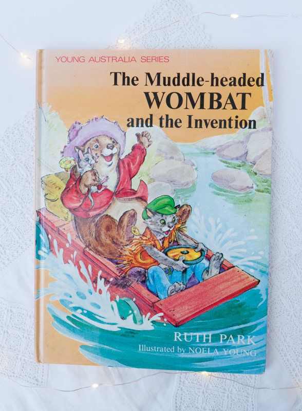 Vintage Australian children's book: 'The Muddle-headed Wombat and the Invention' by Ruth Park- Australian children's story picture book by freshdarling on Etsy
