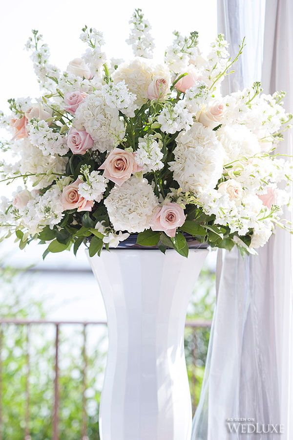 Flowers for a church wedding ceremony :