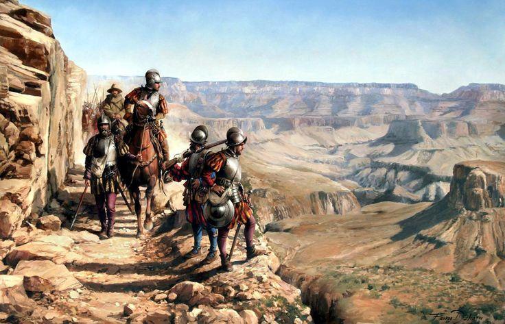 1540  Españoles en el Gran Cañón del río Colorado - Ferrer Dalmau