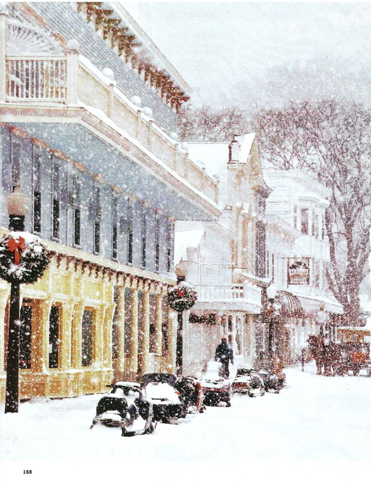 Mackinac Island MI at Christmas