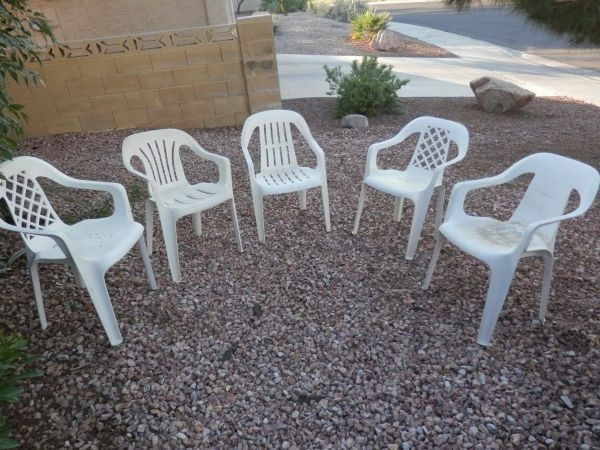 5 outdoor chairs white plastic outdoor chairslas vegasgarden - Garden Furniture Las Vegas