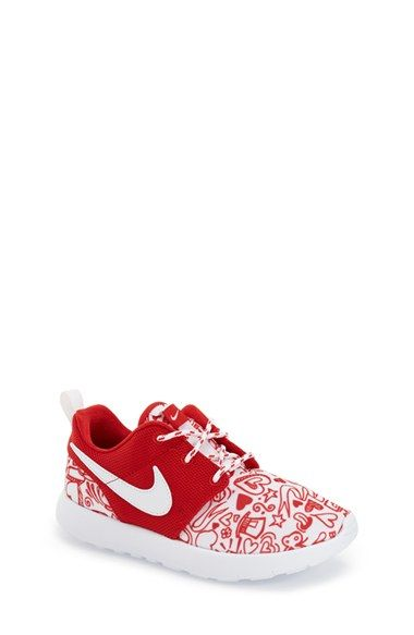 Nike 'Roshe Run' Print Sneaker (Toddler & Little Kid) available at #Nordstrom