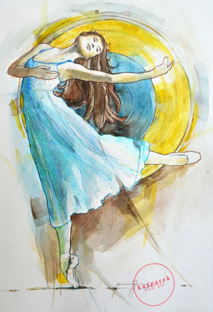 Dancer in a Golden Circle