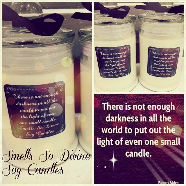 #personalised #candles made for a customer 20 #small #sized #quote #soycandles #robertalden #quotes #motivational #christmasgifts #strawberry and #vanilla #punch