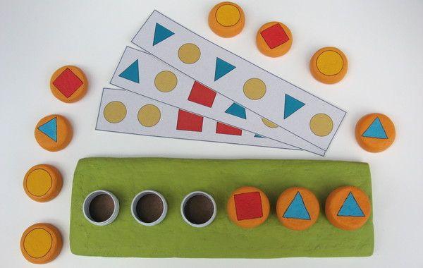 Jogo Pensado Para Que A Crianca Trabalhe Com Sequencias Exercicio Que Estimulara O Pensamento Logico Matematico A Brinquedos E Brincadeiras Motricidade Jogos