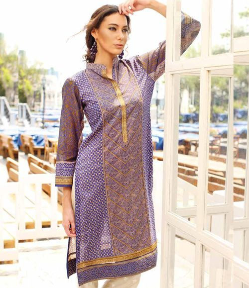Orient Embroidered Lawn Kurti Collection 2015 OTL_112C
