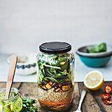 Mason Jar Quinoa Salad With Green Thai-Style Dressing