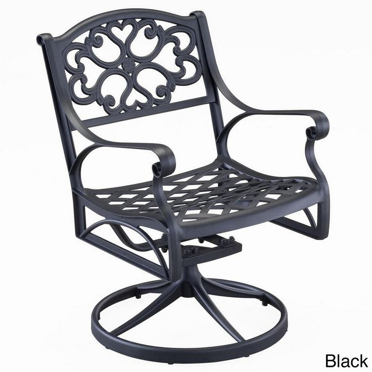 Biscayne Cast Aluminum Outdoor Swivel Chair By Home Styles (White), Patio  Furniture Part 63