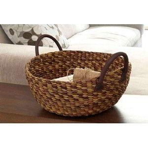 Water Hyacinth Wok Basket Lge (W50cm x D46cm x H26cm): Amazon.co.uk: Kitchen & Home