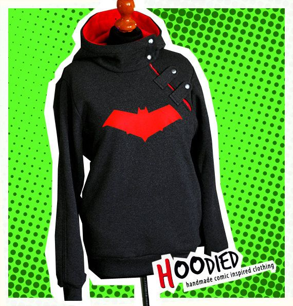 JASON TODD red hood overhead hoodie (S - ready to go) on Etsy, $150.00
