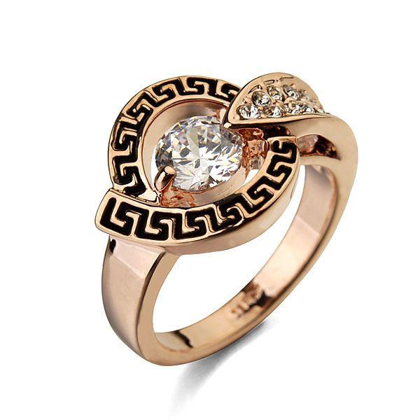 Italina декор алмаз циркон из светодиодов кольцо с 18 К золото для свадьбы