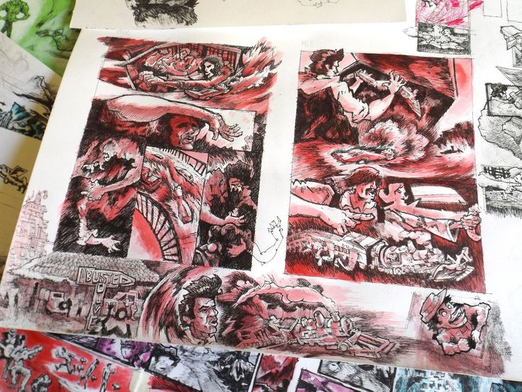 Comic Book studies, Lazzaro/ Edu on ArtStation at https://www.artstation.com/artwork/vEqBv