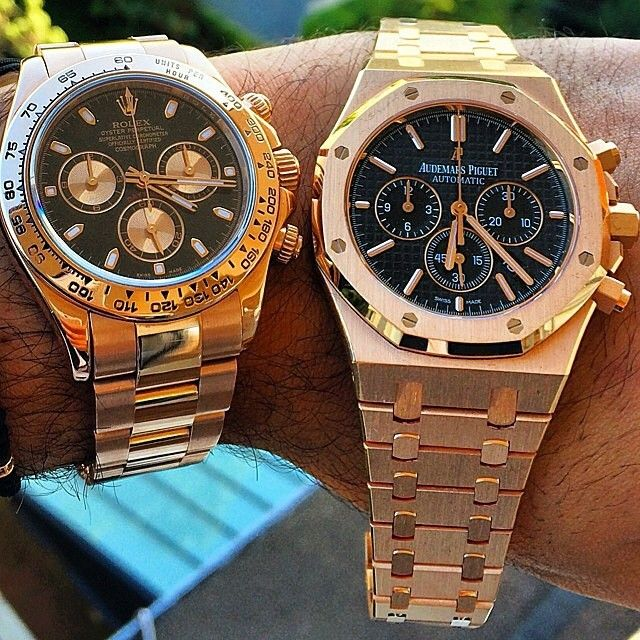 Everose Rolex #Daytona  or  AP Royal Oak Chrono in rose gold?  Men's Watch ""