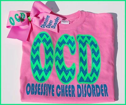 Adult Sizes Obsessive Cheer Disorder shirt and matching hairbow...Cheerleading on Etsy, $28.00