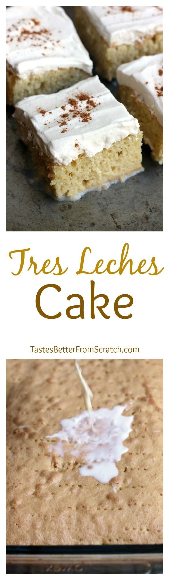 Our absolute favorite Tres Leches cake is so easy to make! On MyRecipeMagic.com