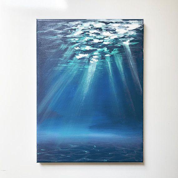 "Ocean Floor Impressionist Stil 8 ""x 10"" Acryl Leinwand"