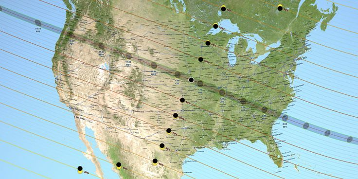 There will be special sales in connection with Monday's solar eclipse. Most of them will be taxable. (Path of totality August 21 2017 solar eclipse_Ernie Wright_NASA-Goddard-SVS)