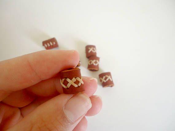 Small leather bead small dread bead dread cuff cross