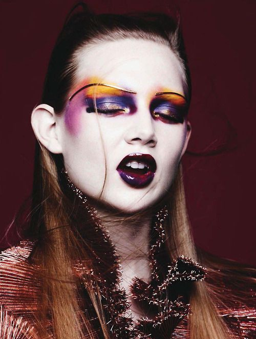 Glam rock goes weird. Holly Rose by Ben Hassett for Vogue Germany January 2014