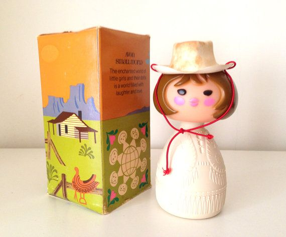1960s Avon Perfume Bottle Small World Collection by HUISHANOldTime